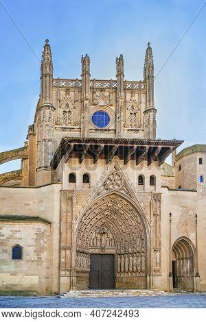 Huesca Cathedral  Also Known As The Cathedral Of Saint Mary Huesca, Spain.  Its Architecture Is Goth