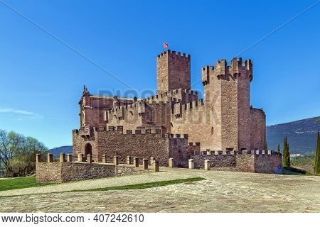 Castle Of Xavier Is Located On A Hill In Navarre, Spain