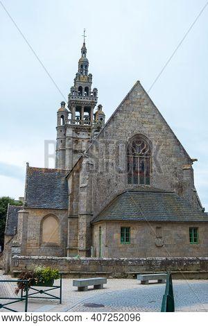 Roscoff, France - August 28, 2019: The Eglise Notre-dame De Croaz-batz Or Church Of Our Lady, A Roma