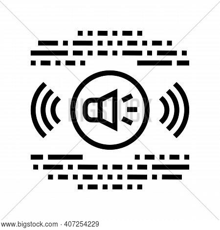 Stereo Music Line Icon Vector. Stereo Music Sign. Isolated Contour Symbol Black Illustration
