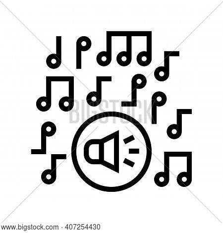 Classical Music Melody Line Icon Vector. Classical Music Melody Sign. Isolated Contour Symbol Black