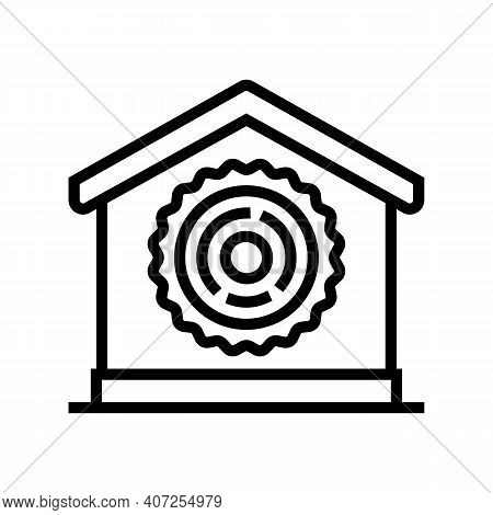 Natural Material For Building Line Icon Vector. Natural Material For Building Sign. Isolated Contour