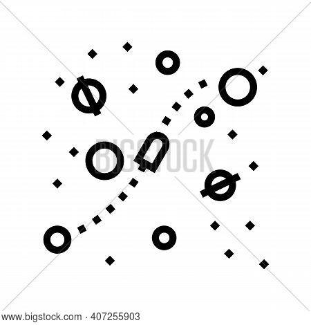 Cosmic Way Between Planets Line Icon Vector. Cosmic Way Between Planets Sign. Isolated Contour Symbo