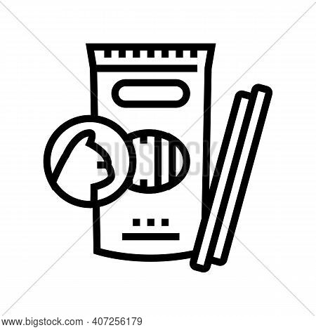 Delicacy Food For Cat Line Icon Vector. Delicacy Food For Cat Sign. Isolated Contour Symbol Black Il