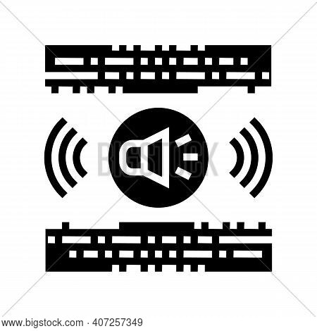 Stereo Music Glyph Icon Vector. Stereo Music Sign. Isolated Contour Symbol Black Illustration