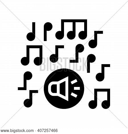 Classical Music Melody Glyph Icon Vector. Classical Music Melody Sign. Isolated Contour Symbol Black