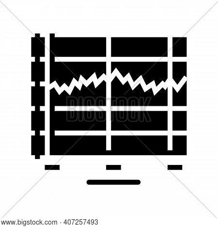 Graphic Sound Vibration Glyph Icon Vector. Graphic Sound Vibration Sign. Isolated Contour Symbol Bla