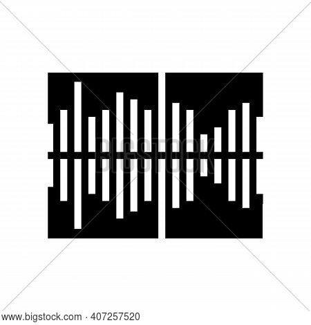 Frequency Noise Glyph Icon Vector. Frequency Noise Sign. Isolated Contour Symbol Black Illustration