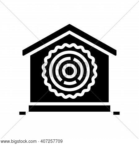 Natural Material For Building Glyph Icon Vector. Natural Material For Building Sign. Isolated Contou
