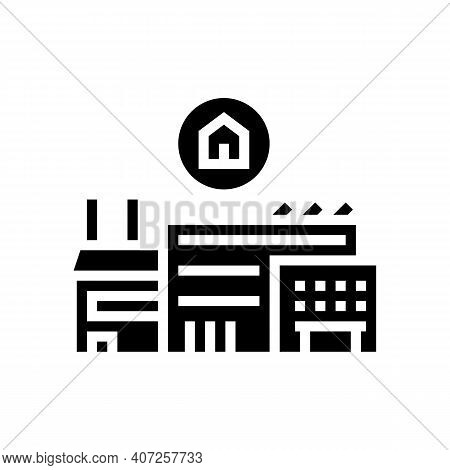 Timber Factory Glyph Icon Vector. Timber Factory Sign. Isolated Contour Symbol Black Illustration