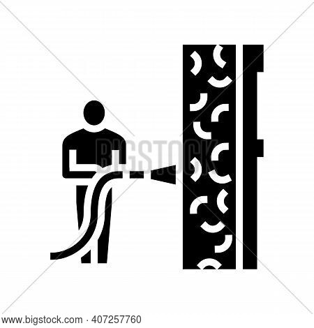 Ecowool Insulation Glyph Icon Vector. Ecowool Insulation Sign. Isolated Contour Symbol Black Illustr