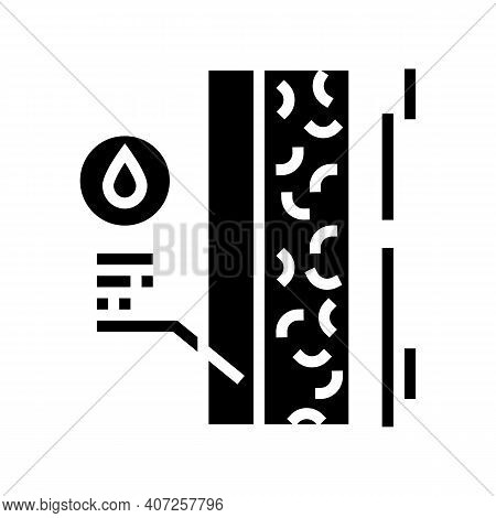 Waterproofing House Wall Layer Glyph Icon Vector. Waterproofing House Wall Layer Sign. Isolated Cont
