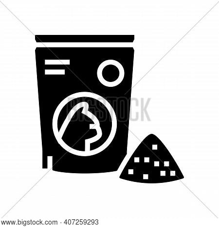 Preserves For Cat Glyph Icon Vector. Preserves For Cat Sign. Isolated Contour Symbol Black Illustrat