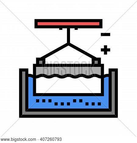 Metal Galvanization Color Icon Vector. Metal Galvanization Sign. Isolated Symbol Illustration