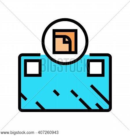 Glue Installation Mirror Color Icon Vector. Glue Installation Mirror Sign. Isolated Symbol Illustrat
