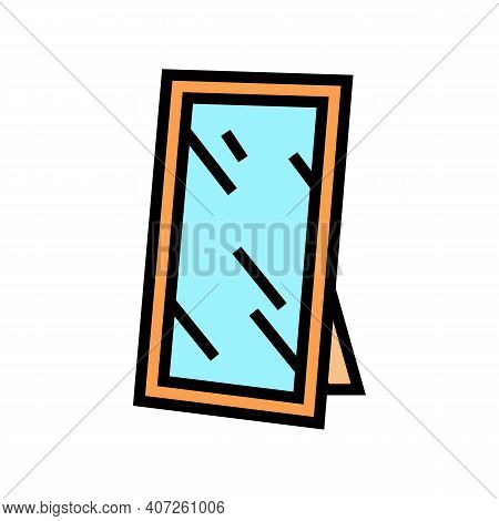 For Hallway Mirror Color Icon Vector. For Hallway Mirror Sign. Isolated Symbol Illustration