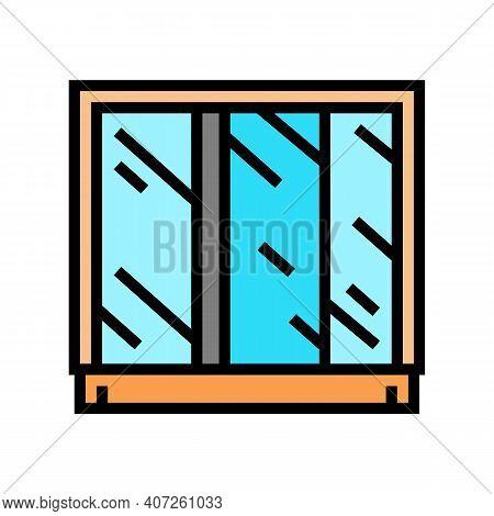 Wardrobe Mirror Color Icon Vector. Wardrobe Mirror Sign. Isolated Symbol Illustration