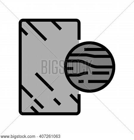 Graphite Mirror Color Icon Vector. Graphite Mirror Sign. Isolated Symbol Illustration