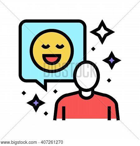 Positive Attitude Soft Skill Color Icon Vector. Positive Attitude Soft Skill Sign. Isolated Symbol I