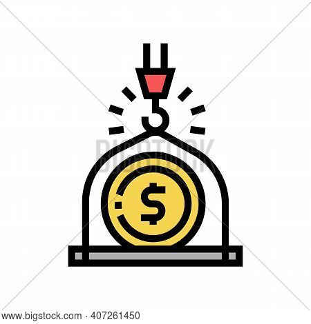Weight Of Money Wealth Color Icon Vector. Weight Of Money Wealth Sign. Isolated Symbol Illustration