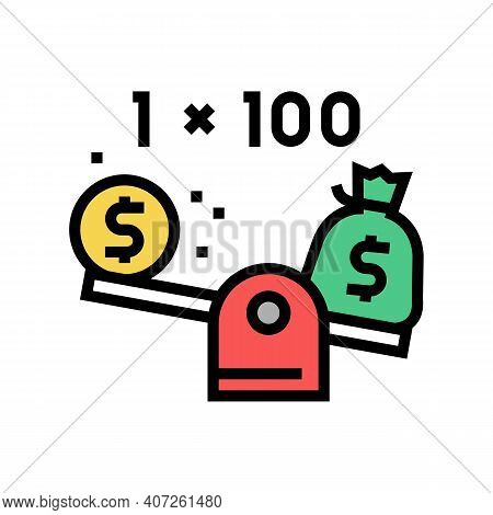 Leverage Help Color Icon Vector. Leverage Help Sign. Isolated Symbol Illustration