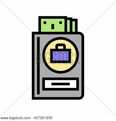 Work Pay Allowance Color Icon Vector. Work Pay Allowance Sign. Isolated Symbol Illustration