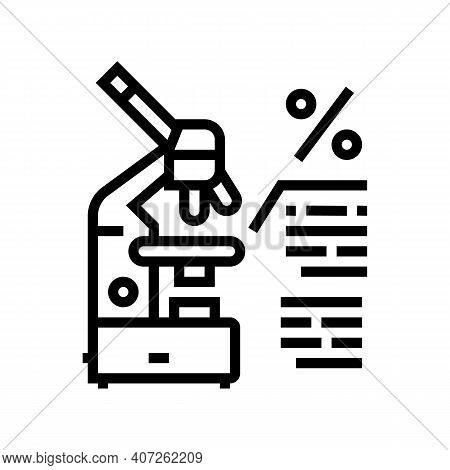 Live Birth Rate Line Icon Vector. Live Birth Rate Sign. Isolated Contour Symbol Black Illustration