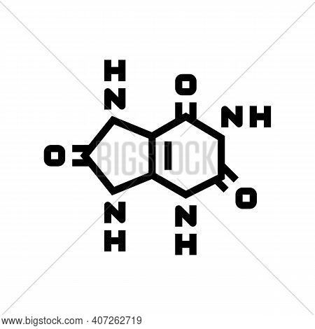Uric Acid Cause Of Gout Line Icon Vector. Uric Acid Cause Of Gout Sign. Isolated Contour Symbol Blac