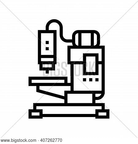 Welding Apparatus Line Icon Vector. Welding Apparatus Sign. Isolated Contour Symbol Black Illustrati
