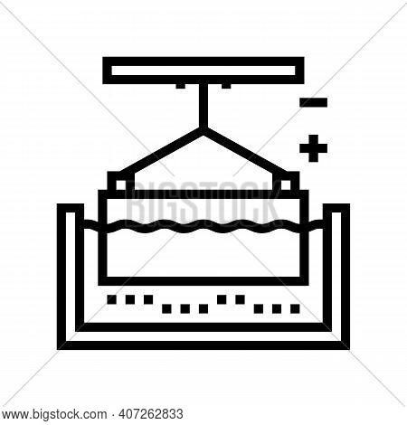 Metal Galvanization Line Icon Vector. Metal Galvanization Sign. Isolated Contour Symbol Black Illust