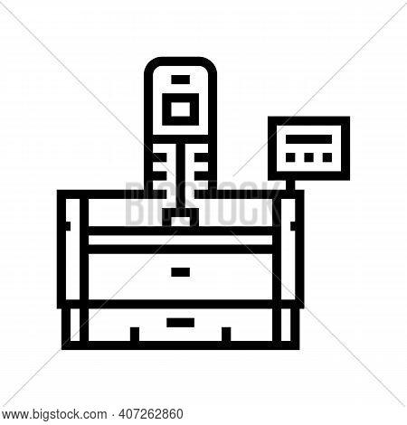 Honing Machine Line Icon Vector. Honing Machine Sign. Isolated Contour Symbol Black Illustration