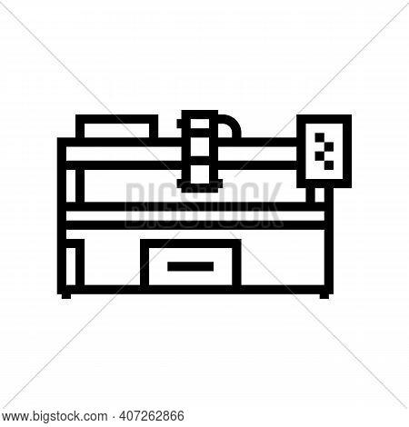 Plasma Apparatus Line Icon Vector. Plasma Apparatus Sign. Isolated Contour Symbol Black Illustration