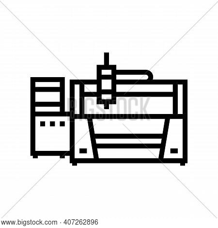 Laser Apparatus Line Icon Vector. Laser Apparatus Sign. Isolated Contour Symbol Black Illustration
