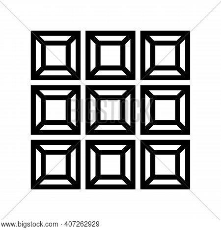 Custom Mirror Line Icon Vector. Custom Mirror Sign. Isolated Contour Symbol Black Illustration
