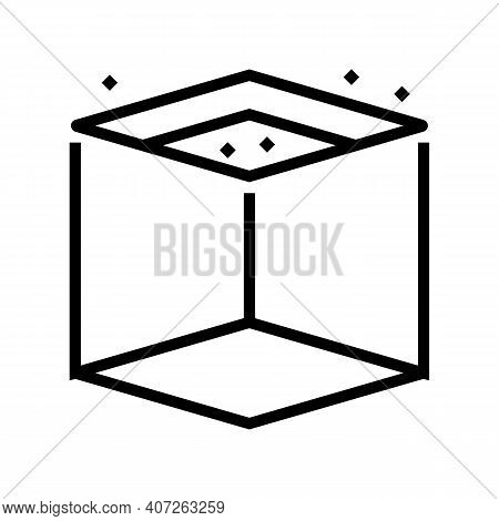 On Ceiling Mirror Line Icon Vector. On Ceiling Mirror Sign. Isolated Contour Symbol Black Illustrati