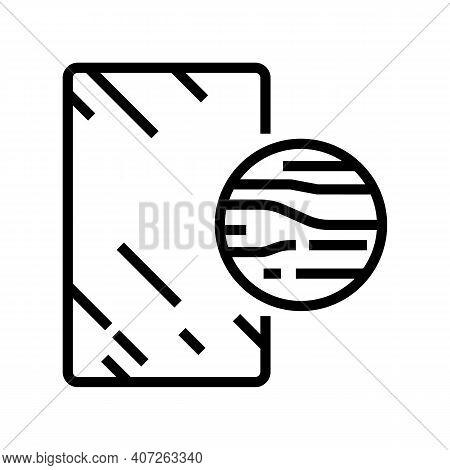 Graphite Mirror Line Icon Vector. Graphite Mirror Sign. Isolated Contour Symbol Black Illustration