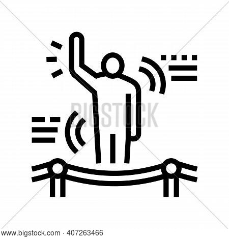 Understanding Body Language Soft Skill Line Icon Vector. Understanding Body Language Soft Skill Sign