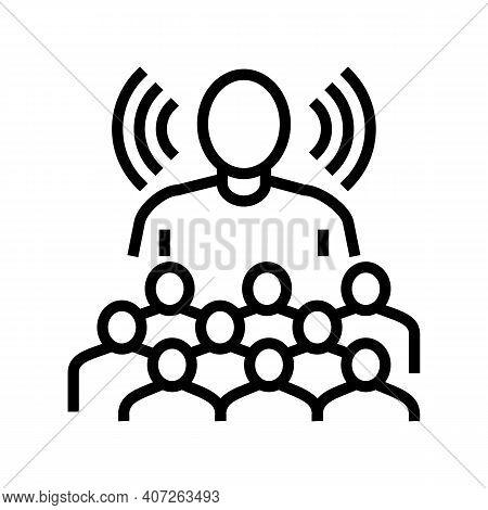 Leadership Soft Skill Line Icon Vector. Leadership Soft Skill Sign. Isolated Contour Symbol Black Il