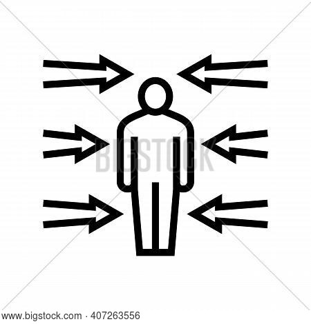Flexibility Soft Skill Line Icon Vector. Flexibility Soft Skill Sign. Isolated Contour Symbol Black