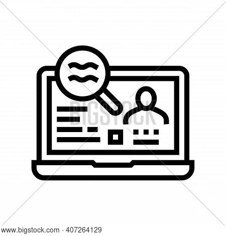 Checking Status Allowance Line Icon Vector. Checking Status Allowance Sign. Isolated Contour Symbol