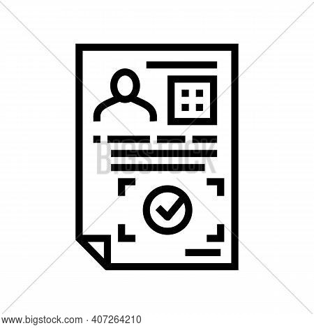 Approval Allowance Line Icon Vector. Approval Allowance Sign. Isolated Contour Symbol Black Illustra