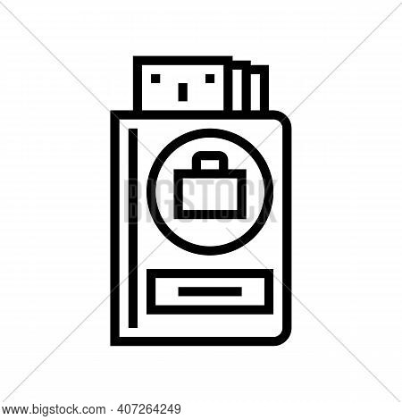 Work Pay Allowance Line Icon Vector. Work Pay Allowance Sign. Isolated Contour Symbol Black Illustra