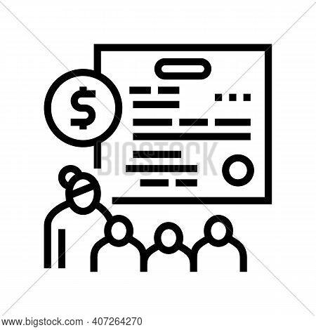 Large Family Children Allowance Line Icon Vector. Large Family Children Allowance Sign. Isolated Con