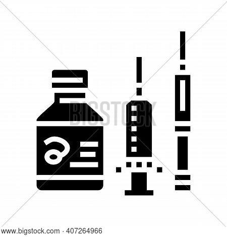 Medicaments And Preparations Glyph Icon Vector. Medicaments And Preparations Sign. Isolated Contour
