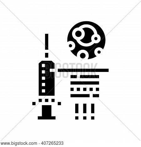 Syringe For Treat Gout Pain Glyph Icon Vector. Syringe For Treat Gout Pain Sign. Isolated Contour Sy