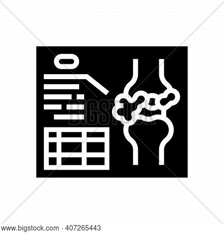 Lumps Analysis And Researching Glyph Icon Vector. Lumps Analysis And Researching Sign. Isolated Cont