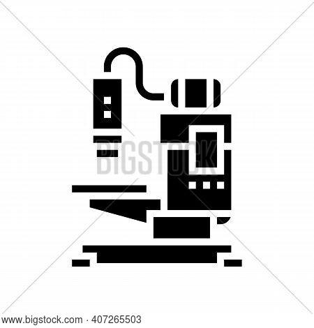 Welding Apparatus Glyph Icon Vector. Welding Apparatus Sign. Isolated Contour Symbol Black Illustrat