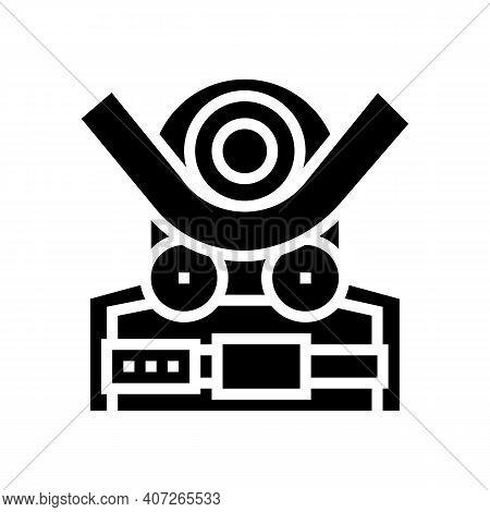 Bending Machine Glyph Icon Vector. Bending Machine Sign. Isolated Contour Symbol Black Illustration