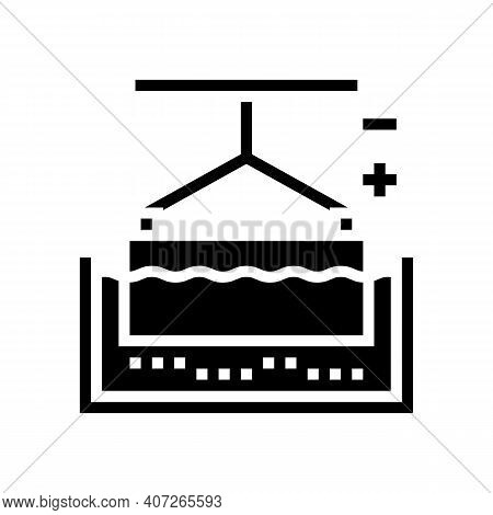 Metal Galvanization Glyph Icon Vector. Metal Galvanization Sign. Isolated Contour Symbol Black Illus