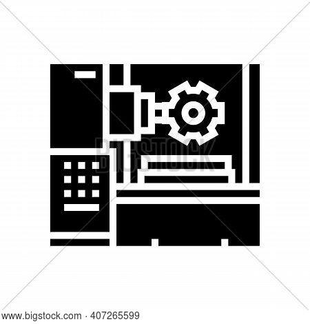 Gear-machined Apparatus Glyph Icon Vector. Gear-machined Apparatus Sign. Isolated Contour Symbol Bla